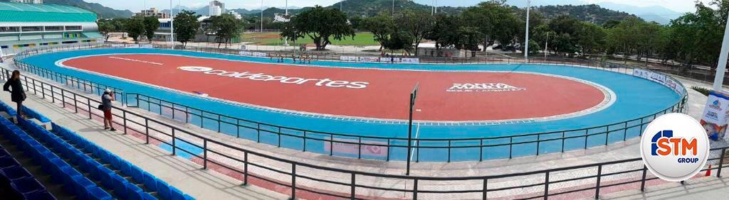 Damos por finalizada la instalación de la pista de atletismo en Barranquilla - Colombia